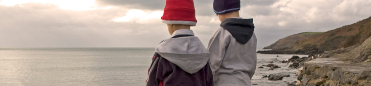 Picture of two boys looking out to sea